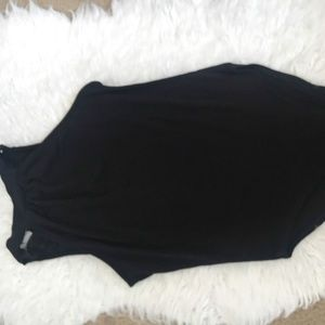 Forever 21 Womens Black High Collar Bodysuit